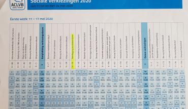 kalender sociale verkiezingen
